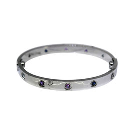 Cartier Love 18K White Gold & Gemstones Bracelet 17