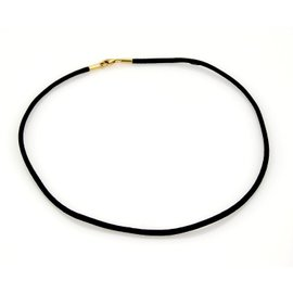 Cartier 18K Yellow Gold and Black Silk Cord Necklace