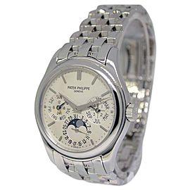 Patek Philippe Perpetual Calendar 5136G 18K White Gold Automatic 37mm Mens Watch