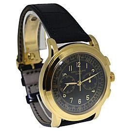 Patek Philippe Chronograph 5070J-001 18K Yellow Gold & Leather Manual 42mm Mens Watch