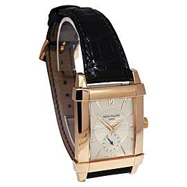 Patek Philippe Gondolo 5111R 18K Rose Gold & Leather Manual 32mm Mens Watch