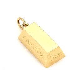Cartier 18K Yellow Gold 1 oz Ingot Bar Charm Pendant