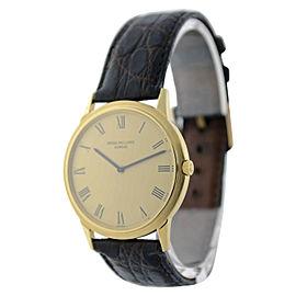 Patek Philippe Calatrava 3591 18K Yellow Gold Automatic Vintage 33mm Mens Watch