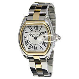 Cartier Roadster 2675 18K Yellow Gold and Stainless Steel Quartz 29.5mm Womens Watch