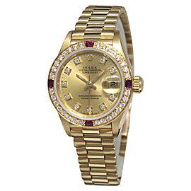 Rolex Datejust 69178 18K Yellow Gold Automatic 31mm Womens Watch