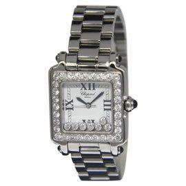 Chopard Happy Sport Square 27/8362-23/11 Stainless Steel Diamond 27mm Womens Watch