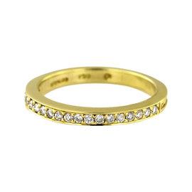 Hidalgo Rope Rail 18K Yellow Gold 0.21ct. Diamond Ring Size 7