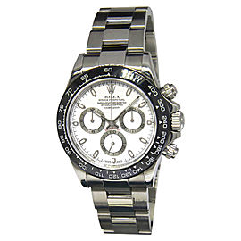 Rolex Daytona 116520 Stainless Steel & Black Ceramic Bezel White Dial Automatic 40mm Mens Watch
