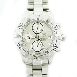 Tag Heuer Aquaracer CAF2111 Stainless Steel with Silver Dial 41mm Mens Watch