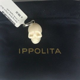Ippolita Sterling Sterling with Agate Skull Charm Pendant Necklace