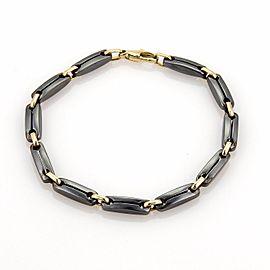 Cartier 18K Yellow Gold with Hematite Long Bar Link Bracelet