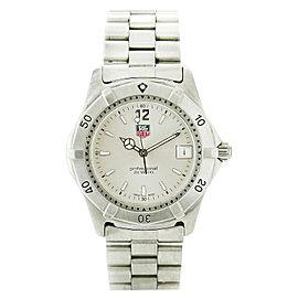 Tag Heuer WK1112-0 Stainless Steel Silver Dial Quartz 37mm Mens Bracelet Watch