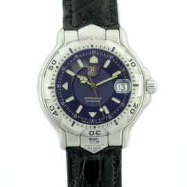 Tag Heuer WH1115-K1 Stainless Steel Leather Quartz 40mm Mens Watch