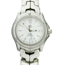 Tag Heuer Link WT1114 Stainless Steel with White Dial Quartz 41mm Mens Watch