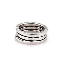 Bulgari Bvlgari B Zero-1 18K White Gold Band Ring Size 8.5