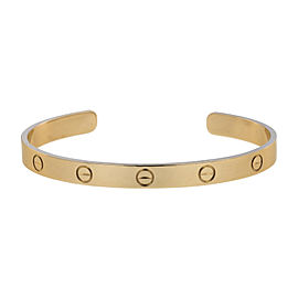 Cartier Love 18K Rose Gold Cuff Bracelet Size 19