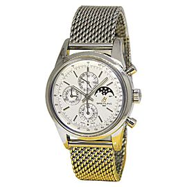 Breitling Transocean A19310 Stainless Steel Automatic 43mm Mens Watch