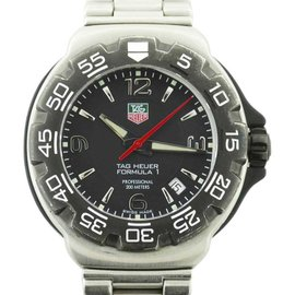Tag Heuer Formula 1 WAC1110 Stainless Steel with Black Dial Quartz 42mm Mens Watch
