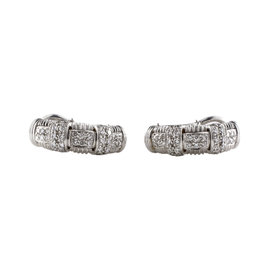 Roberto Coin 18K White Gold with 0.81ct Pave Diamond Earrings