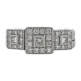 Charriol Flamme Blanche Collection 18K White Gold with Diamond Ring Size 5.25
