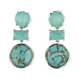 Ippolita Rock Candy 925 Sterling Silver Gelato Turquoise & Quartz Earrings