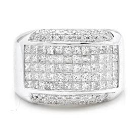 14K White Gold 5.00ct Diamond Ring Size 11