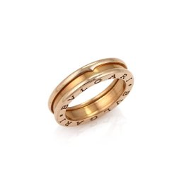 Bulgari B Zero1 18K Rose Gold Band Ring Size 6.25