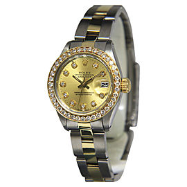 Rolex Datejust 6917 14K Yellow Gold and Stainless Steel with Diamond Dial Automatic Vintage 26mm Womens Watch