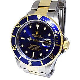 Rolex Submariner 16613 18K Yellow Gold and Stainless Steel Automatic 40mm Mens Watch