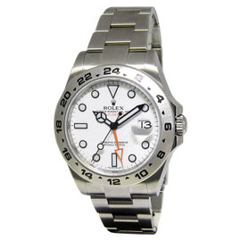 Rolex Explorer II 216570 Stainless Steel & White Dial 42mm Mens Watch