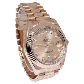 Rolex Day-Date II 218235 18K Rose Gold Automatic 41mm Mens Watch