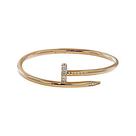 Cartier Juste Un Clou 18K Rose Gold with 0.59ct. Diamond Bracelet