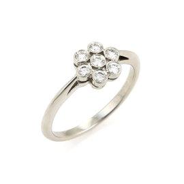 Tiffany & Co. Platinum 0.30ct. Diamond Flower Ring Size 7.25
