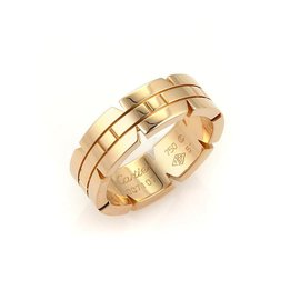 Cartier Tank Francaise 18K Rose Gold Band Ring Size 5.75