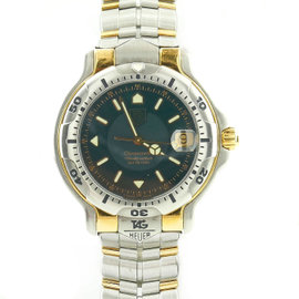 Tag Heuer WH5153 18K Yellow Gold and Stainless Steel Green Dial 39mm Unisex Watch