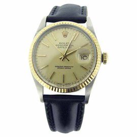 Rolex Datejust 16013 18K Yellow Gold & Stainless Steel Champagne Dial 36mm Mens Watch
