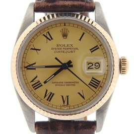 Rolex Datejust 16013 14K Yellow Gold Stainless Steel Automatic 36mm Mens Watch