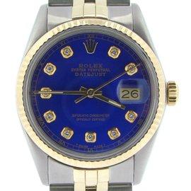 Rolex Datejust 16013 18K Yellow Gold / Stainless Steel Custom Diamond Automatic 36mm Mens Watch