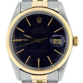 Rolex Datejust 16013 14K Yellow Gold & Stainless Steel Automatic 36mm Mens Watch