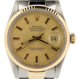 Rolex Datejust 16013 Stainless Steel / 18K Yellow Gold Automatic 36mm Mens Watch