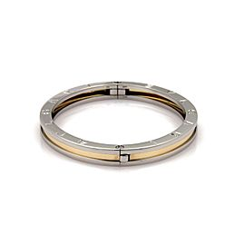 Bulgari B Zero-1 18K Yellow Gold & Stainless Steel Oval Bangle Bracelet