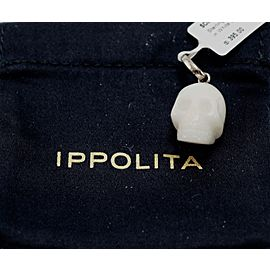 Ippolita Sterling Silver with White Jade Skull Charm Pendant