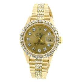 Rolex Datejust 69178 18K Yellow Gold Diamond Dial, Bezel & Band 26mm Womens Watch