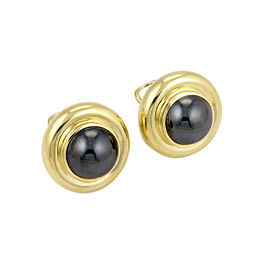 Tiffany & Co. Paloma Picasso 18K Yellow Gold with Hematite Earrings