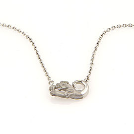 Carrera y Carrera 18K White Gold Panther Pendant Necklace