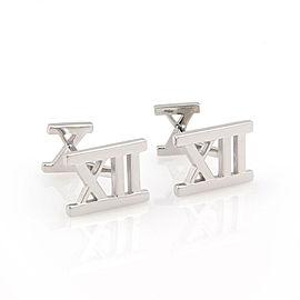 Tiffany & Co. Atlas 18K White Gold Cufflinks