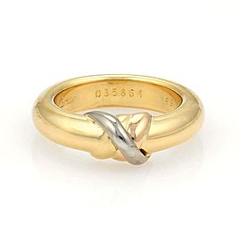 Cartier Trinity 18K Yellow, White and Rose Gold Band Ring Size 4.75