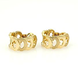 Cartier C de Cartier 18K Yellow Gold Oval Semi Hoop Earrings