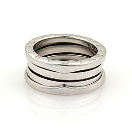 Bulgari B Zero-1 18K White Gold Wide Band Ring Size 4