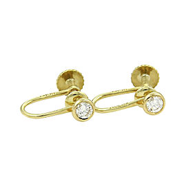 Tiffany & Co. Elsa Peretti 18K Yellow Gold and 0.25ct Diamond By The Yard Screw Back Earrings